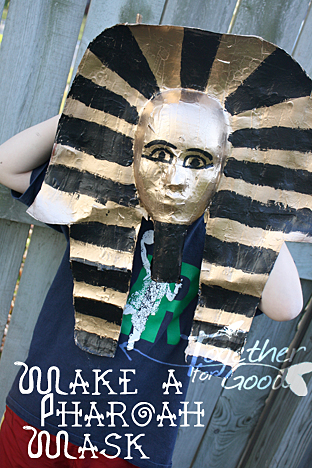 pharoah death mask how to make it
