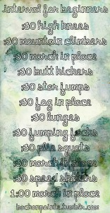 interval workout from back on pointe